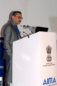 Mr Naresh Trehan, Chairman & Managing Director, Medanta - The Medicity addressing AIMA conference