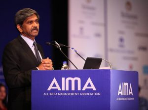 D Shivakumar, Chairman & CEO - PepsiCo India addressing AIMA's 42nd NMC
