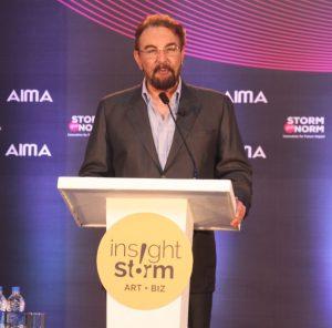 Mr Kabir Bedi, Indian television and Film actor addressing InsightStorm