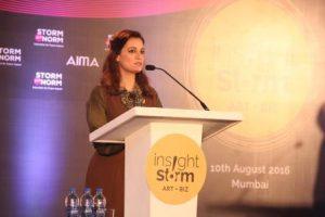 Dia Mirza addressing the Insight Storm 2016