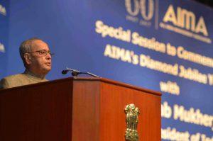 Shri Pranab Mukherjee commemorating AIMA's Diamond Jubilee Celebrations