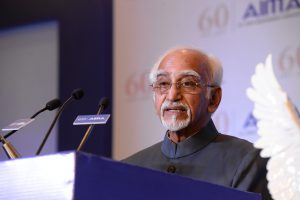 Shri Hamid Ansari, Vice President of India addressing AIMA JRD Tata Award Ceremony