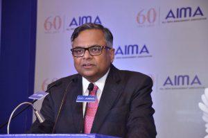 Mr N Chandrasekaran, Chairman, Tata Sons addressing the JRD TATA award ceremony