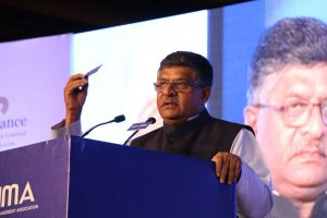 Shri Ravi Shankar Prasad, Minister of Law and Justice; Electronics and Information Technology, Government of India addressing AIMA's Diamond Jubilee National Management Convention (NMC) 2017
