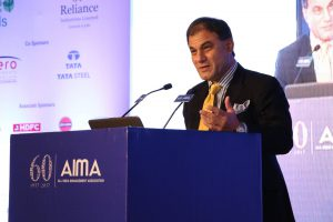 Lord Karan Bilimoria, CBE DL, Chairman, Cobra Beer addressing AIMA's Diamond Jubilee National Management Convention