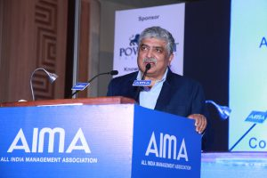 Nandan Nilekani, Non-Executive Chairman, Infosys Ltd., speaking on 'Disrupting the Disrupter' at the AIMA's 62nd FoundationDay
