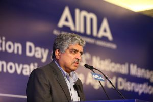 Nandan Nilekani addressing AIMA's 63rd Foundation Day.